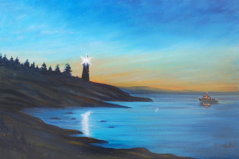 Lighthouse & Boat